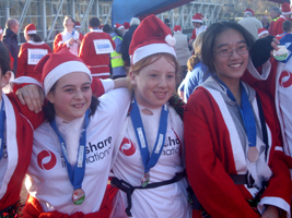 Santa run in Loughborough