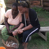 Bintu supported women in rural Tanzania to run their small businesses more efficiently