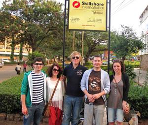 Volunteers on arrival in Tanzania
