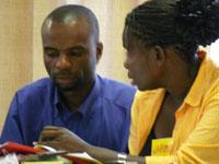 Participants on a leadership development workshop in Botswana