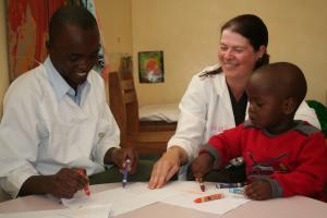 Caragh trained occupational therapists in Tanzania