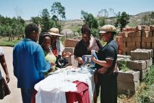 Members of the Mpolonjeni group in Swaziland make and sell handicrafts to support AIDS orphans.  Mpolonjeni is a member of SWANNEPHA.