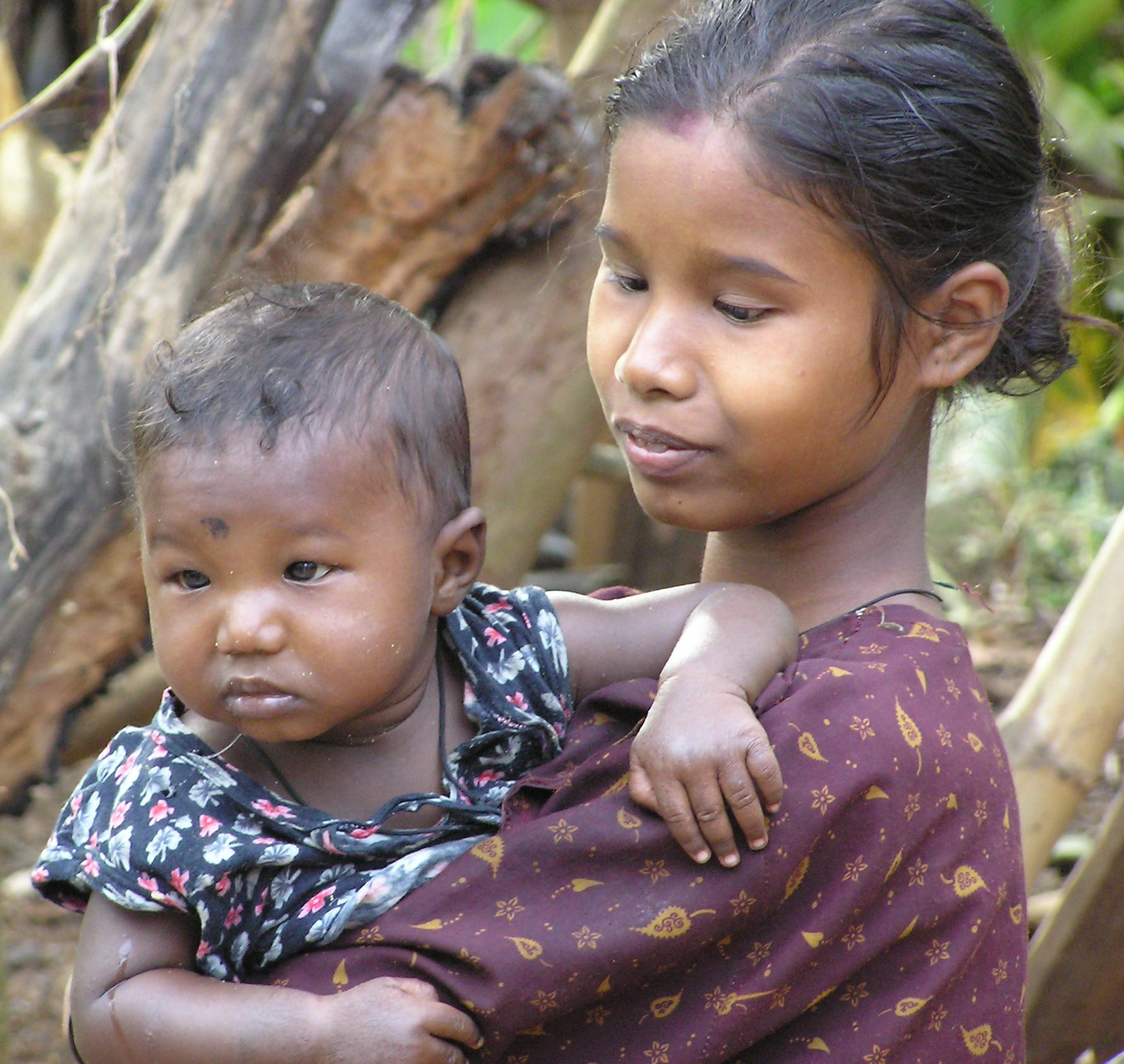 Mother and child in Tamil Nadu
