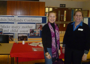 Lydia and Zoe at the Medsin conference in March 2011