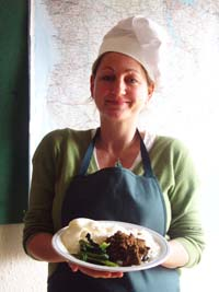 Elaine raised money by cooking an Indonesian lunch for her colleagues