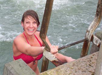 Ruth Kidd braved the Irish Sea on Christmas Day 2011 to support Skillshare International's work